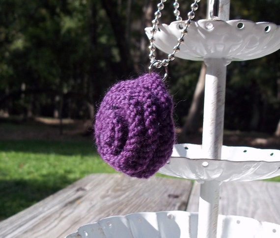 Rose Necklace in Purple
