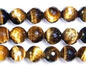 8mm Round Cut Tiger Eye Beads Natural Semiprecious Gemstone Bead String Beading 15''L Jewelry Supply Wholesale Beads