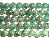 "Kyanite Beads Genuine 6mm Round Green  Semiprecious Gemstone 15""L 15""L Bead Wholesale Beads"