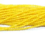 2mm Round Yellow Jade Bead Semiprecious Gemstone Bead Strand 15''L Jewelry Supply Wholesale Beads