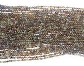2mm Round Flower Obsidian Bead Semiprecious Gemstone Bead Strand 15''L Jewelry Supply Wholesale Beads