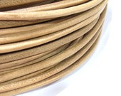 Leather Cord 4mm Genuine Natural Color String Jewelry Making - 4202 - Wholesale Leather Cord