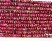 "Sea Sediment Jasper Beads 8mm Rondelle Red Loose Beads Semiprecious Gemstone 15""L 15""L  Supply 4528 Wholesale Beads"