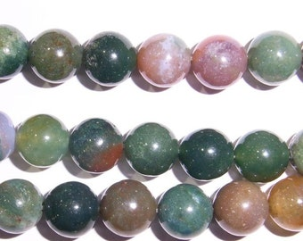 Indian Agate Beads 4mm/6mm/8mm/10mm/10mm/12mm/14 mm Round 15''L Natural Genuine Semiprecious Gemstone Bead Wholesale Beads