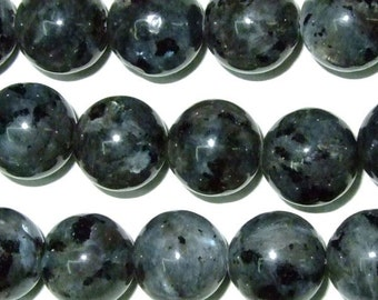 4mm/6mm/8mm/10mm/12mm/14mm Round Labradorite Beads Madagascar Black Semiprecious Gemstone Bead - 38cm 15''L Jewelry Supply Wholesale Beads
