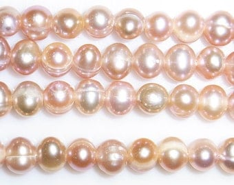 """Freshwater Pearl Beads Genuine Natural Pearl 4-5mm Offround Purple 15""""L Wholesale Pearls"""