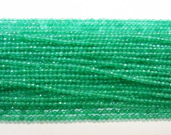 2mm Round Cut Agate Beads Green 15''L Natural Genuine Semiprecious Gemstone Bead Wholesale Beads