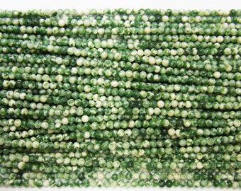 2mm Round Agate Beads Green Spot 15''L Natural Genuine Semiprecious Gemstone Bead Wholesale Beads