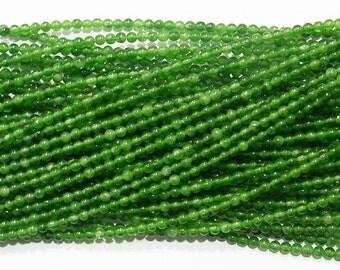 2mm Round Green Jade Bead Semiprecious Gemstone Bead Strand 15''L Jewelry Supply Wholesale Beads