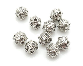 Spacer Bead CCB 9x9mm 150pieces Lot Silver Plated Finding 1192- Wholesale Spacer Bulk Accessory