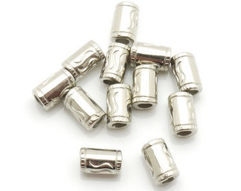 Spacer Bead CCB 4x8mm 400pieces Lot Silver Plated Finding 1205- Wholesale Spacer Bulk Accessory