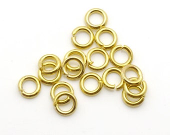 5mm 17G Round Jumpring Gold Tone 500 Loose Beads Wholesale Clasp Finding Bulk Jewelry Supply