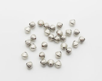 Spacer Bead CCB 6mm 400pieces Lot Silver Plated Finding 1548- Wholesale Spacer Bulk Accessory