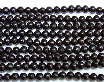 """Freshwater Pearl Beads Genuine Natural 5-6mm Offround Black 15""""L 2404 Wholesale Pearls"""