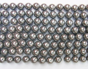 10mm Round Shell Grey South Sea Type A Grade 15 inches length, 38 cm- Wholesale Shell