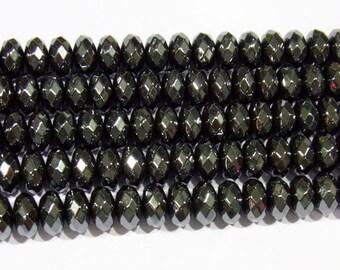 Hematite Beads 5x8mm Rondelle Cut Natural Bead Semiprecious Gemstone 15''L