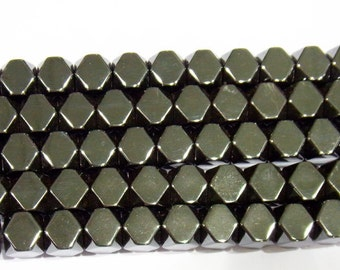 "Hematite Beads 10x20mm Anise Shape Natural Bead Semiprecious Gemstone 15""L -"