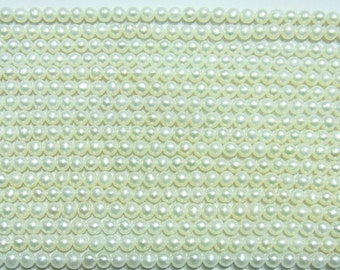 """Freshwater Pearl Beads Genuine Natural 2-3mm Round White 15""""L AAA Grade 4242 Wholesale Pearls"""