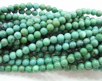 Turquoise Beads 4mm Round Genuine Semiprecious Gemstone Bead Bead A Grade Wholesale Beads 4244 -