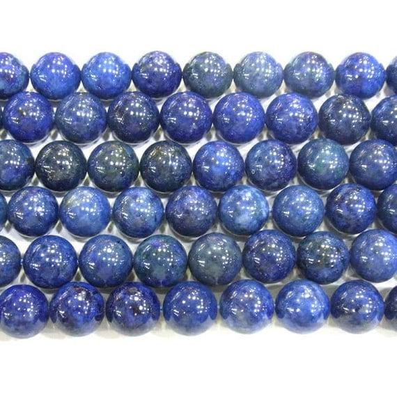 8mm Round Lapis Lazuli AB Grade Genuine Bead Semiprecious Gemstone Bead Wholesale Beads -  4134 - 15''L Jewelry Supply Wholesale Beads