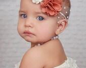 Sweet Mums - Felt Flower Headband with Tulle