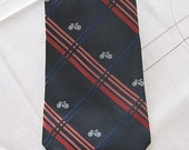 Vintage Bicycle Andhurst Tie, 60 inches long, Gift for Dad or Gramps