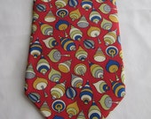 Vintage Monsieur by Christian Dior Mens Silk Neck Tie Top Toy  Pattern, 58 inches long
