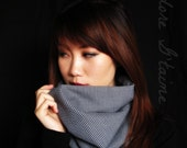 Cowl Scarf : Unisex houndstooth neckwarmer -2way style