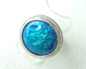 ocean aqua blue, absolutely charming enamel ring