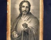 Antique Sacred Heart of Jesus card