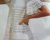 Crochet Pattern Cover Up------ Frothy Lacey Beauty PDF------Instant Download