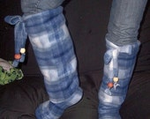 Sewing Boots Pattern ------Knee High or Thigh High Boots------made with cuddly fleece-----only 3 easy steps