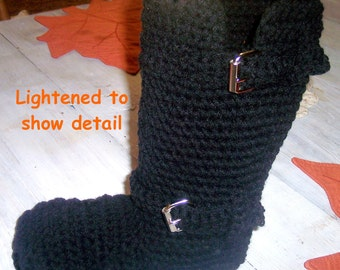 Crochet Pattern Boots---------NEW--------ENGINEERING BOOTS-------Wear them outdoors too
