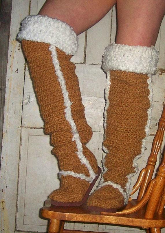Crochet Pattern Boots Thigh High