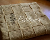 Knitting PATTERN: Babylove Blanket with Heart Motifs
