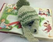 Crochet Strap Hat for Baby Boys or Girls... Newborn Preemie Photo Prop