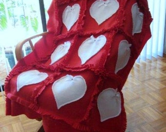 Hearts in Red Blanket