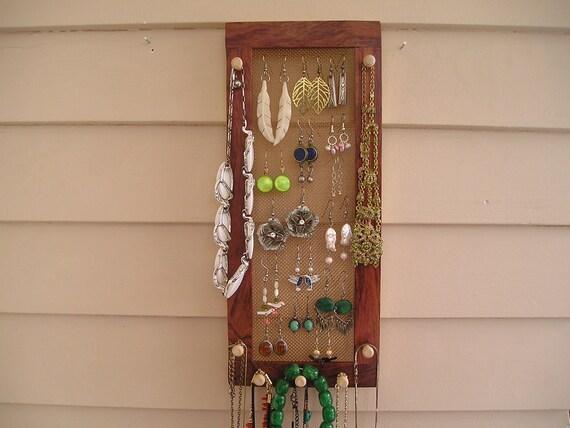 Jewelry Organizer - Vertical Bubinga