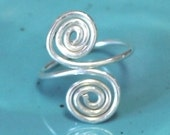 Sterling silver spiral statement ring custom made