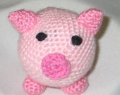 amigurumi crocheted stuffed pig