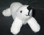 Amigurumi crocheted seal