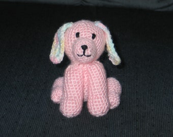 amigurumi crocheted stuffed puppy
