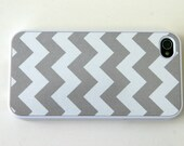 Gray Chevron iPhone 5 iPhone 4/4S Case