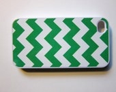 Green Chevron iPhone 5 iPhone 4/4S Case - Kelly Green and White
