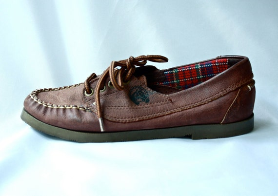 1980s brown shoes with horse detail size US 6