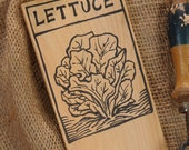Hand-DRAWN Garden Marker for Lettuce