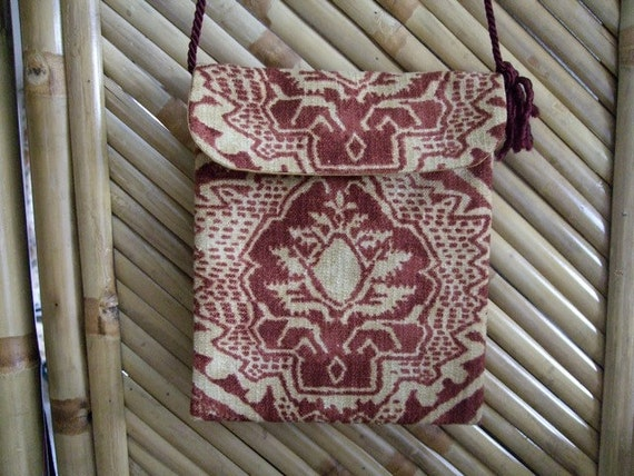 Wine and gold hip purse HB58