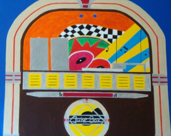 Jukebox  Signed and Numbered Enhanced Matte Giclee Print
