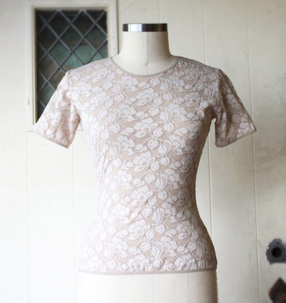 Lovely Lace Top, 90s, Womens Size XS, SM