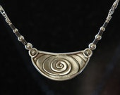 Spiral Necklace - sterling silver